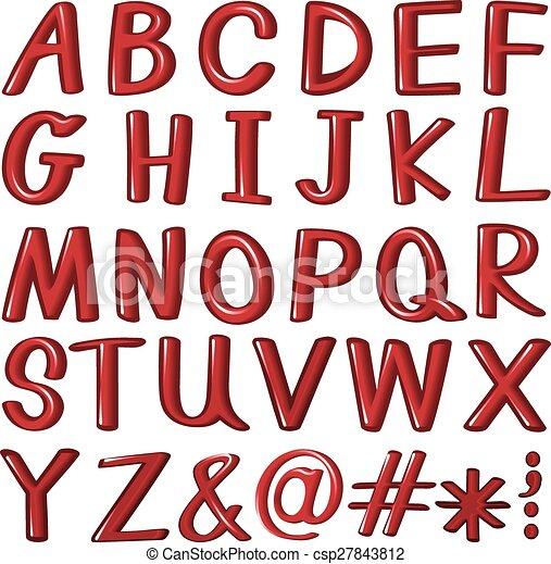 Cartas del alfabeto - csp27843812