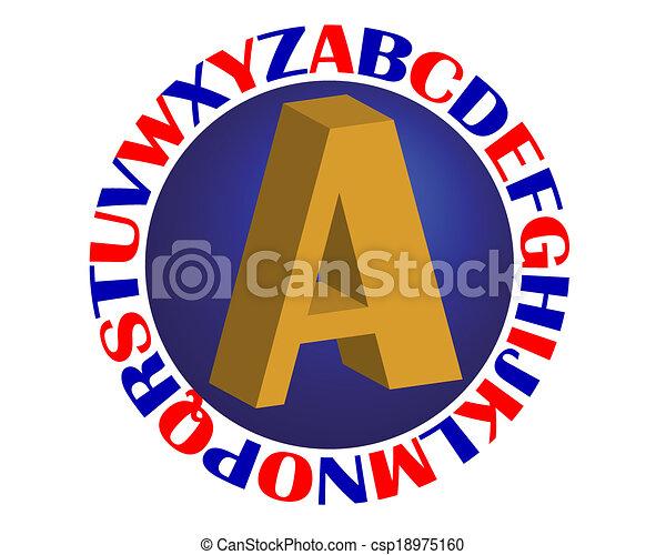 Alfabeto - csp18975160
