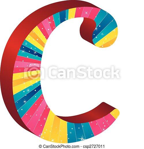 Alfabeto, coloreado, rayas estrellas.