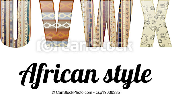Alfabeto en el estilo africano - csp19638335