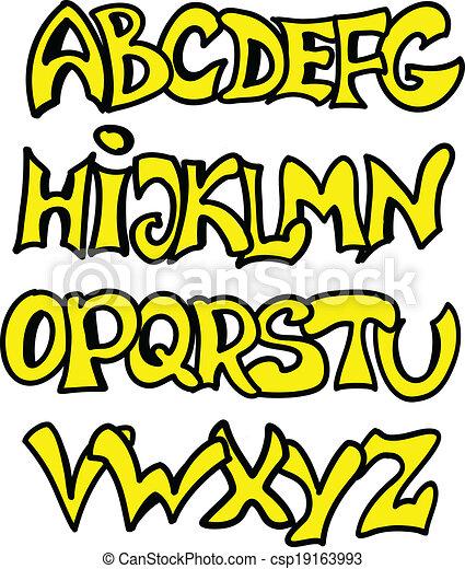 El alfabeto inglés al estilo graffiti - csp19163993