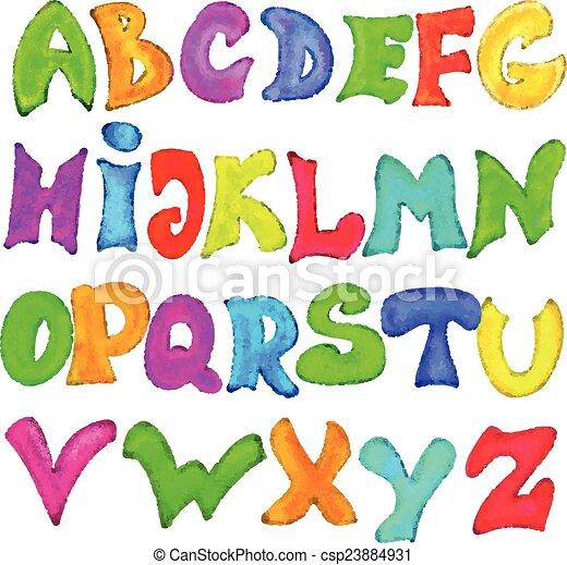 El alfabeto inglés al estilo graffiti - csp23884931