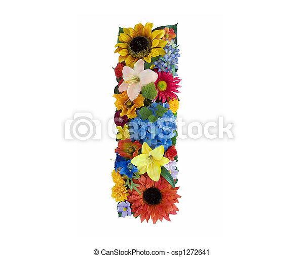 alfabeto, flor, - - csp1272641