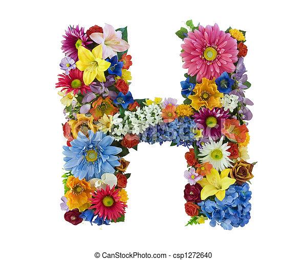alfabeto, flor, -, h - csp1272640