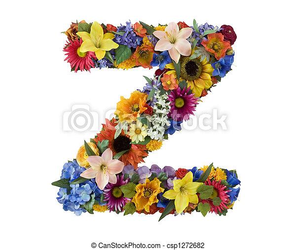 alfabeto, flor, -, z - csp1272682