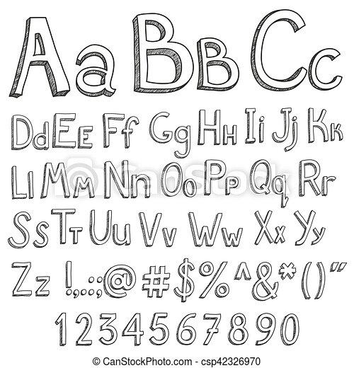 El alfabeto inglés en un fondo blanco - csp42326970