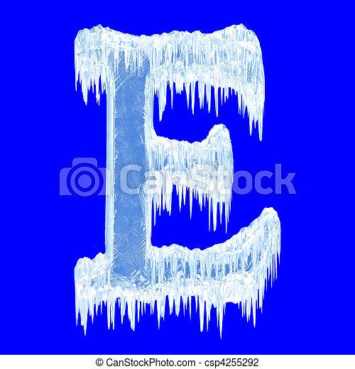 El alfabeto de hielo - csp4255292