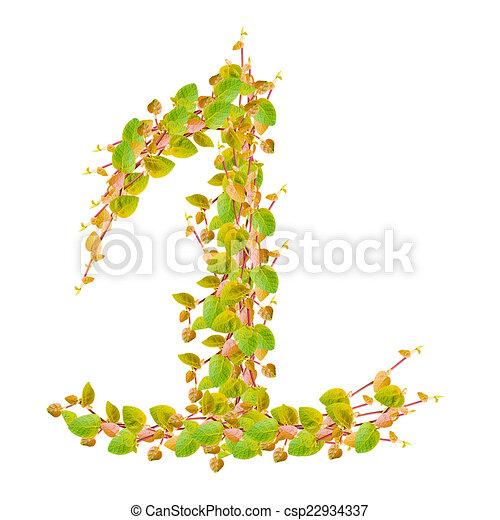 Alfabeto, hojas, verde, número 1 dibujos - Buscar imágenes de ...
