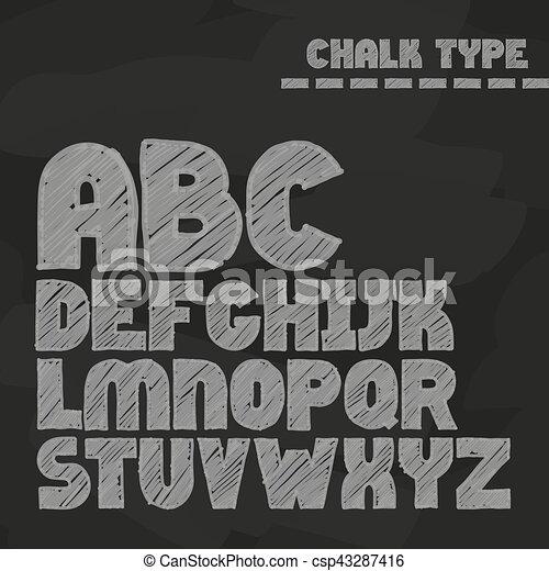 El alfabeto inglés - csp43287416