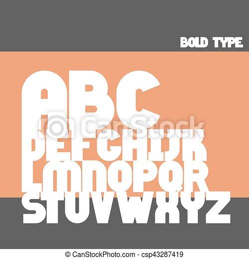 El alfabeto inglés - csp43287419