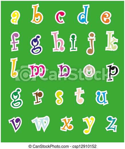 Alfabeto inglés - csp12910152