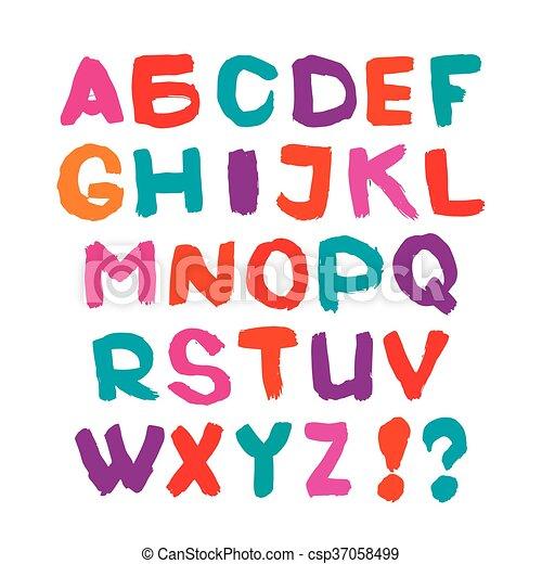 El alfabeto inglés - csp37058499
