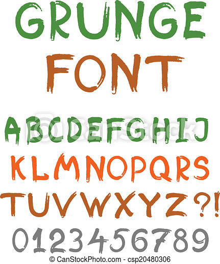 El alfabeto inglés al estilo grunge - csp20480306