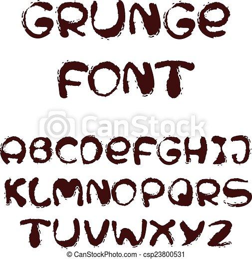 El alfabeto inglés al estilo grunge - csp23800531