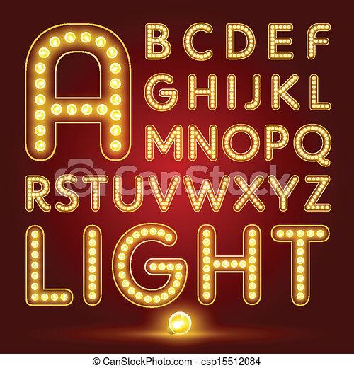 Alfabeto con lámpara realista - csp15512084