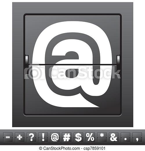 alfabeto mecánico - csp7859101