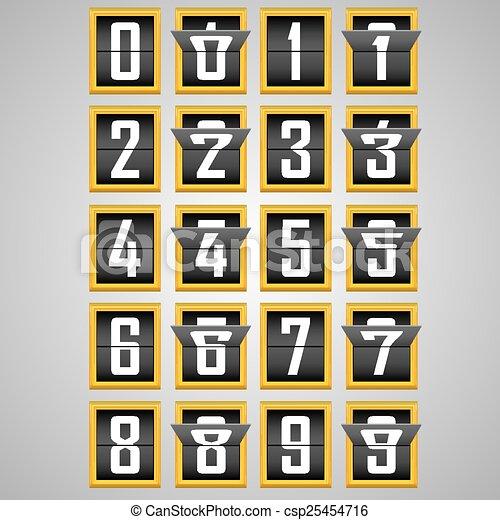 Números del alfabeto de marcador mecánico - csp25454716