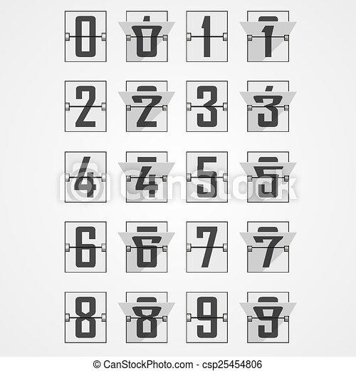 Números del alfabeto de marcador mecánico - csp25454806