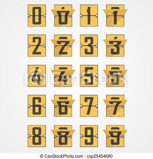 Números del alfabeto de marcador mecánico - csp25454680