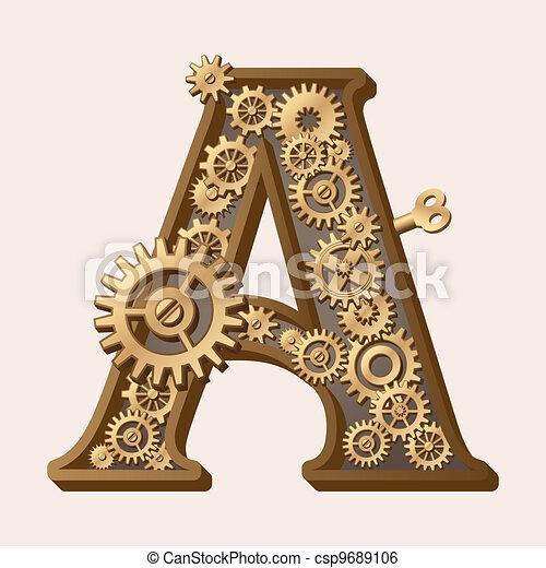 Alfabeto mecánico - csp9689106
