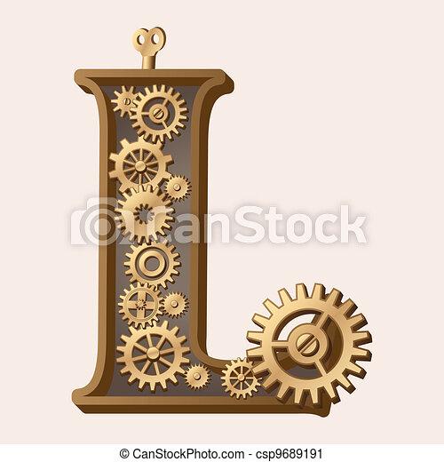 Alfabeto mecánico - csp9689191