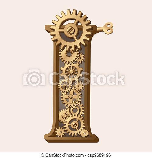 Alfabeto mecánico - csp9689196