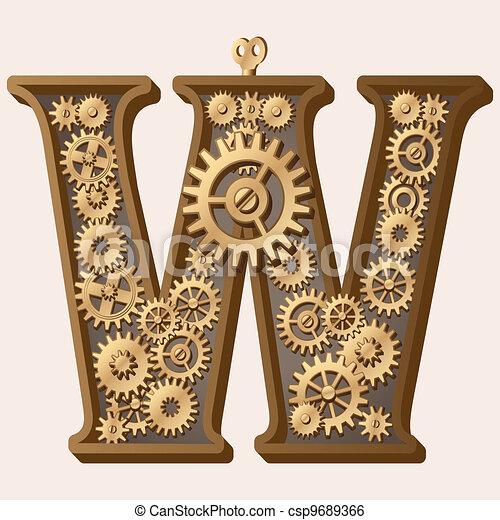 alfabeto mecánico - csp9689366