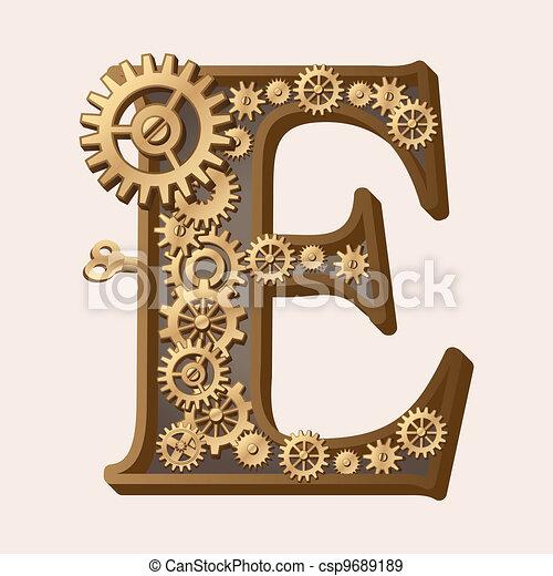 Alfabeto mecánico - csp9689189