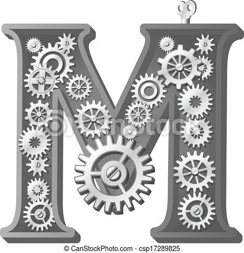 alfabeto, mecánico - csp17289825