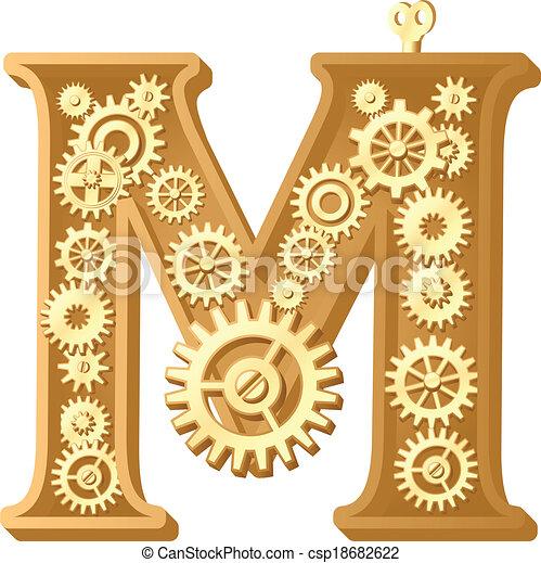 alfabeto, mecánico - csp18682622
