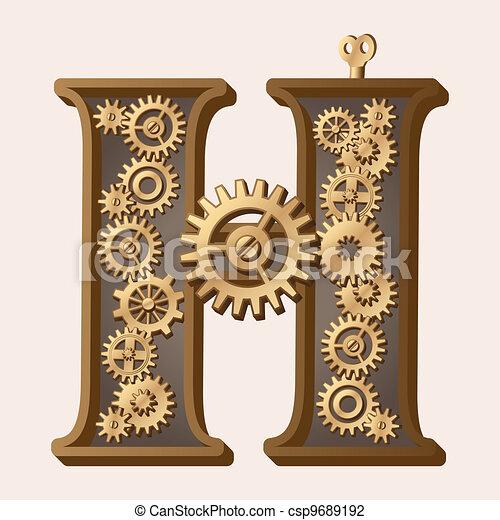 alfabeto, mecánico - csp9689192