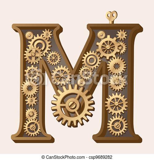 alfabeto, mecánico - csp9689282