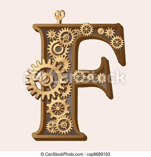 Alfabeto mecánico - csp9689193