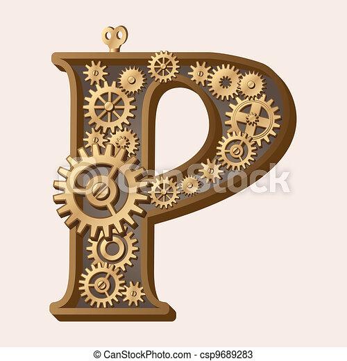 alfabeto mecánico - csp9689283