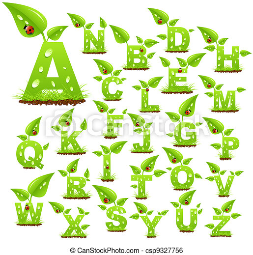 alfabeto, natura - csp9327756