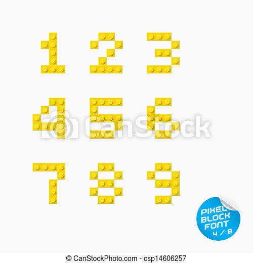El alfabeto de Pixel Block - csp14606257