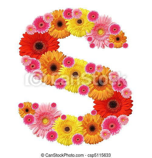 Alfabeto de flores - csp5115633