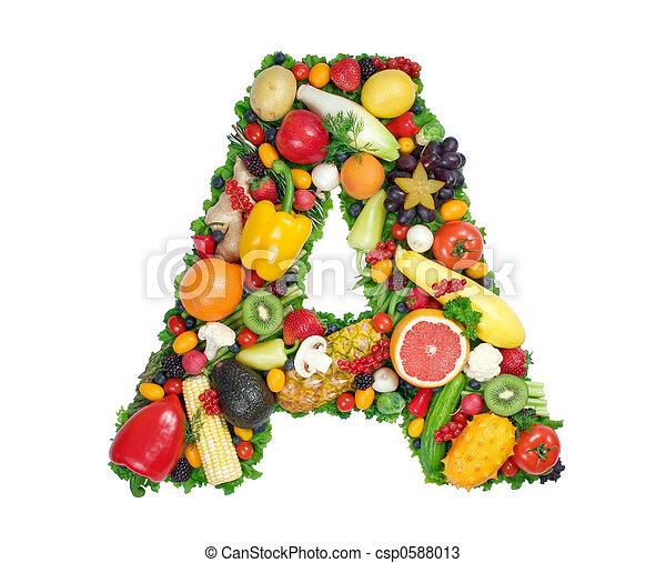 alfabeto, saúde - csp0588013