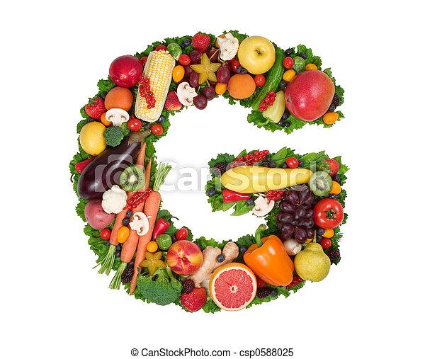 alfabeto, saúde - csp0588025