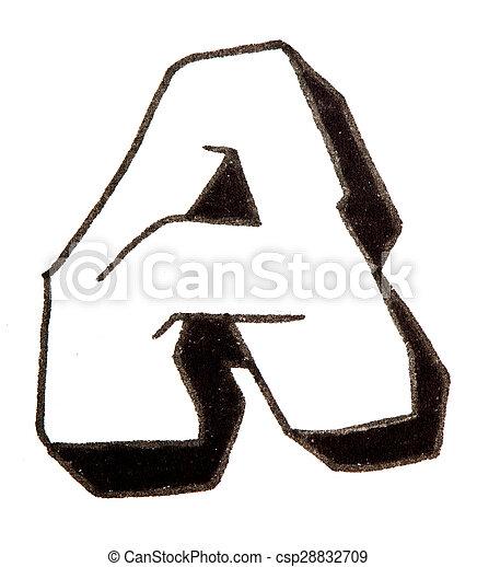 Alfabeto stile graffito uno lettera stile graffity - Letter a graffiti style ...