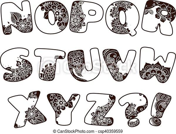 El alfabeto de dibujos animados - csp40359559