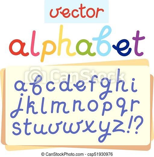 El alfabeto inglés Vector - csp51930976