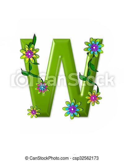 alfabeto, w, wonderland - csp32562173