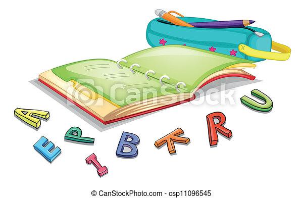 alfabetos, livro - csp11096545