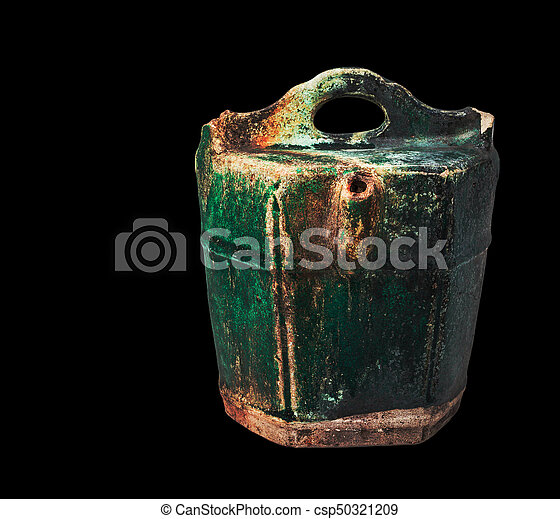 Vieja cerámica de fondo negro. - csp50321209