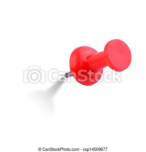 Cierren la imagen del alfiler rojo - csp14509677