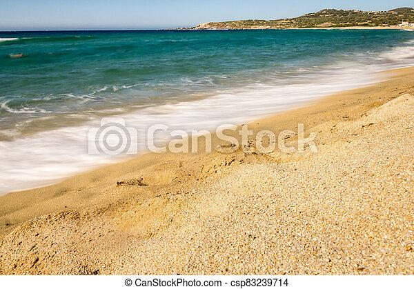 Algajola beach in Corsica, France - csp83239714