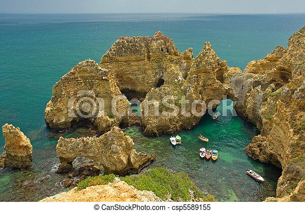 algarve , ακτογραμμή , πορτογαλία  - csp5589155