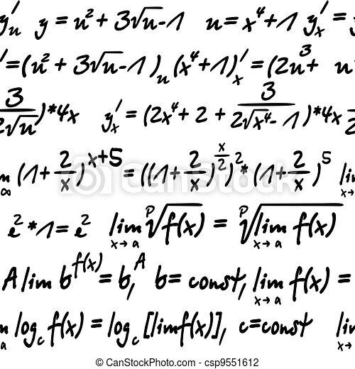 Algebra Seamless Seamless With Algebra Symbols For Background Or