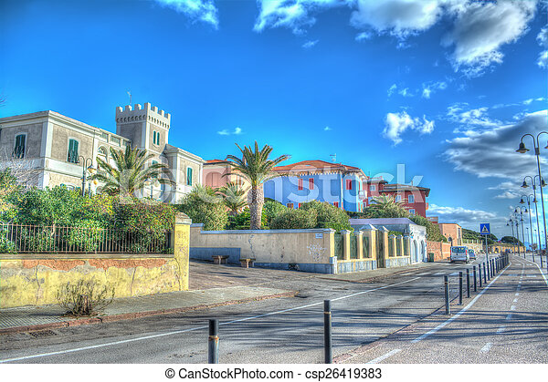 Alghero seafront in hdr tone mapping - csp26419383